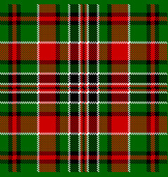 green red check square pixel seamless pattern vector image vector image