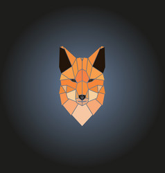 head fox logo in geometry style vector image