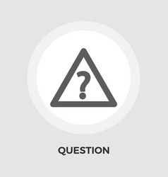 Question flat icon vector