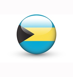 Round icon with national flag of Bahamas vector image vector image