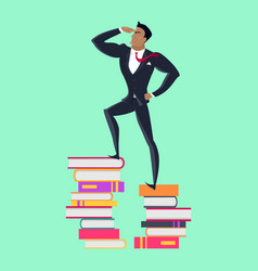 top of knowledge concept in flat design vector image vector image