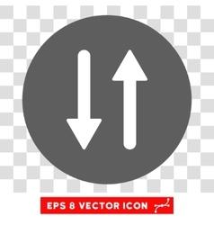 Vertical exchange arrows round eps icon vector
