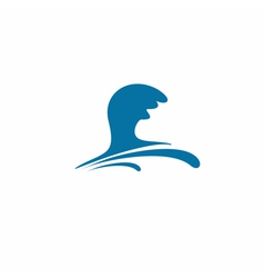 Water wave symbol vector image