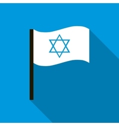 White flag with the Star of David icon vector image