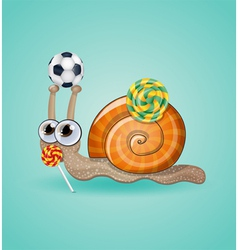 Isolated funny kid snail vector