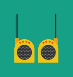 walkie-talkie vector image