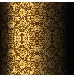 Dark background baroque design vector