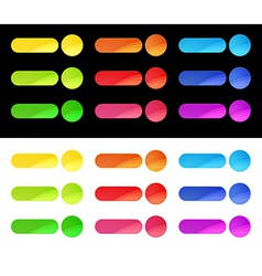 Colorful web buttons template vector