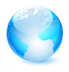Glass globe vector