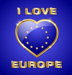 Glossy european heart vector