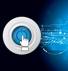 power button on abstract background vector image