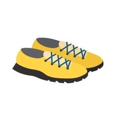 Yellow sneakers vector image