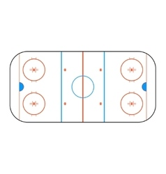 Hockey arena for design vector