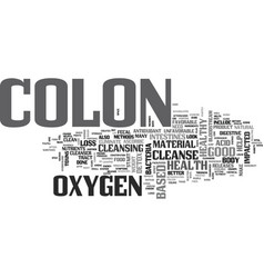 a colon detox can improve your colon health text vector image vector image