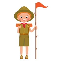 A smiling child boy scout vector