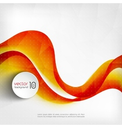 Abstract transparent orange wave background vector image vector image
