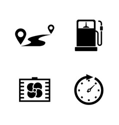 auto simple related icons vector image vector image