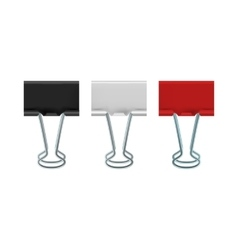 Binder clips icon realistic style vector