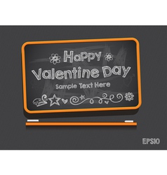 Blackboard Valentine s Day Background vector image vector image