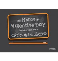 Blackboard valentine s day background vector