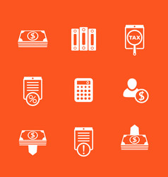 Bookkeeping finance icons set vector