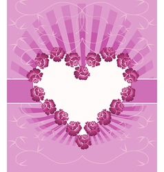 Card With Floral Heart vector image