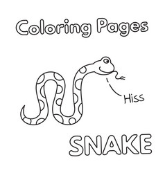 cartoon snake coloring book vector image vector image