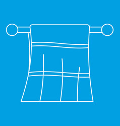 clean towel on a hanger icon outline style vector image