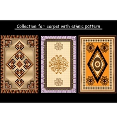 Collection for carpet vector