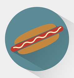 Colorful Hot dog icon vector image vector image