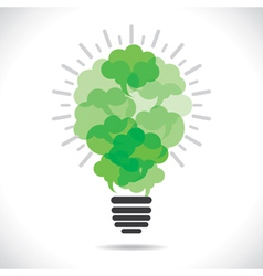 Eco-friendly message bubble making bulb concept vector image vector image