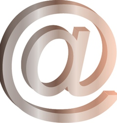Email sign icon vector image vector image