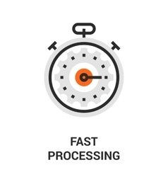 Fast processing icon vector