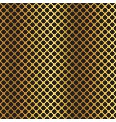 Golden black metallic diagonal grid background vector image vector image