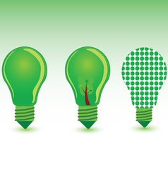 green bulb color vector image