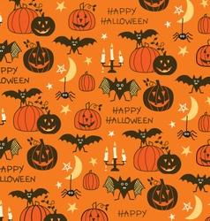 happy halloween pattern vector image vector image