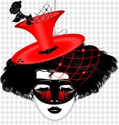image of an dame in carnival mask vector image