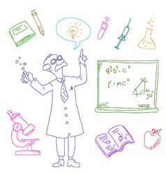 laboratory doodles vector image vector image