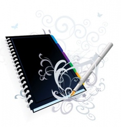 pen and notebook vector image