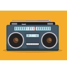 Radio vintage design vector