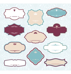 set of royal decorative frames vector image vector image