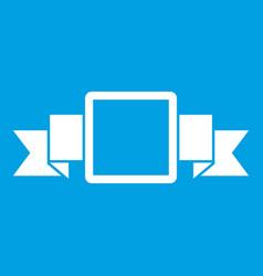 Small square banner icon white vector