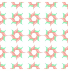 Stylized Twirled Flower Trellis Background vector image