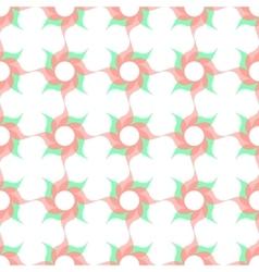 Stylized Twirled Flower Trellis Background vector image vector image