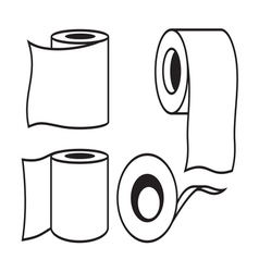 Toilet paper icon9 resize vector image vector image