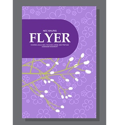 Violet flowers on a flyer Can be used as greeting vector image vector image