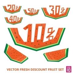 Watermelon discount vector image vector image