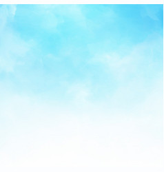 white cloud detail in blue sky vector image