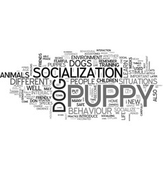 Why socialize your puppy a guide to why and how vector