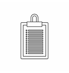 Document plan icon outline style vector